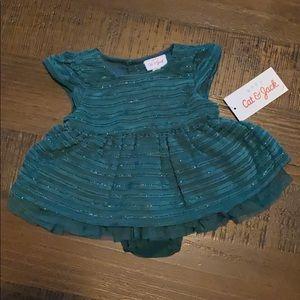 Cat & Jack Green Sparkle Dress - New!